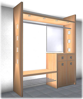 schrank garderobe das bild wird geladen with schrank garderobe schn schrank garderobe with. Black Bedroom Furniture Sets. Home Design Ideas