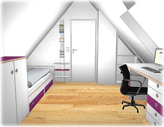 Stunning Jugendzimmer Mit Dachschräge Contemporary - Einrichtungs ...